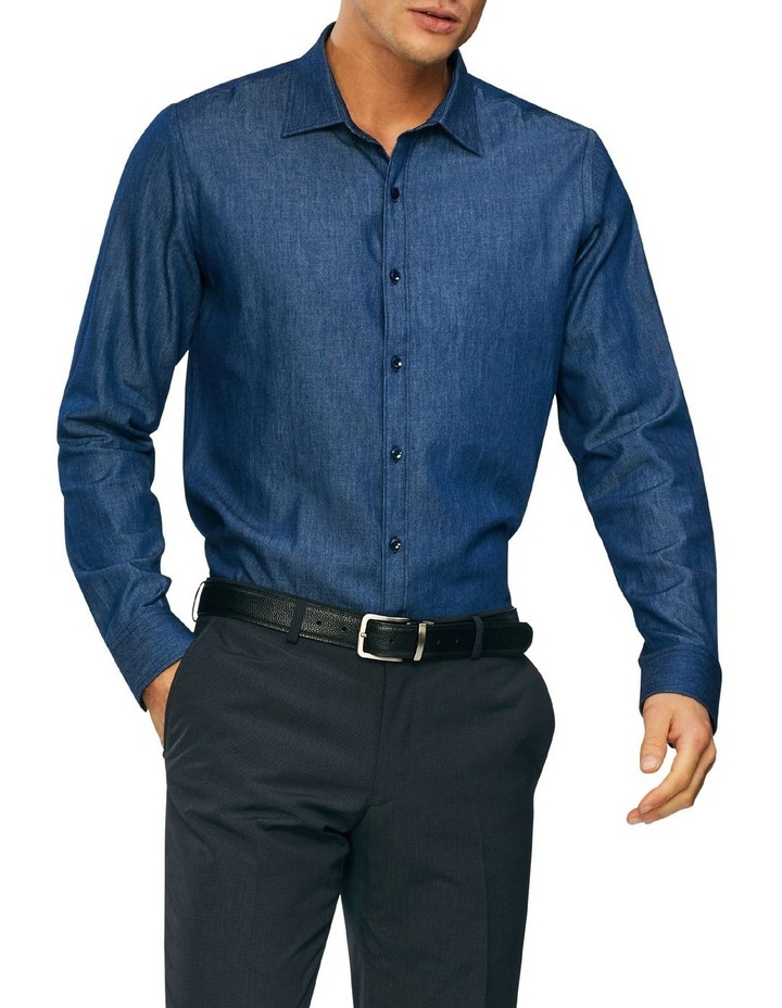 Washed Denim Casual Shirt image 1