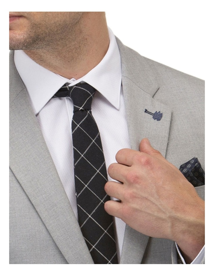 Stretch Textured Plain Blazer image 4