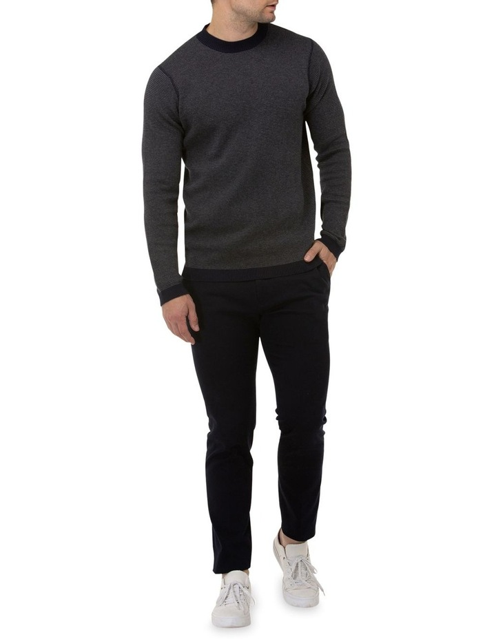Two Tone Crew Neck Sweater image 4