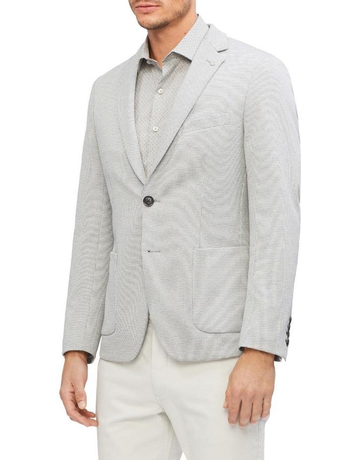 Light Grey Puppytooth Knit Blazer image 1