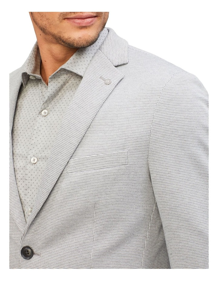 Light Grey Puppytooth Knit Blazer image 4