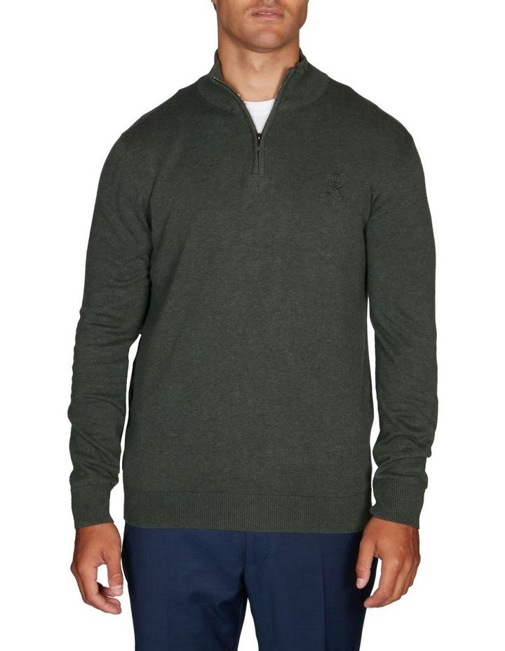 1/4 Zip Textured Knitwear image 1