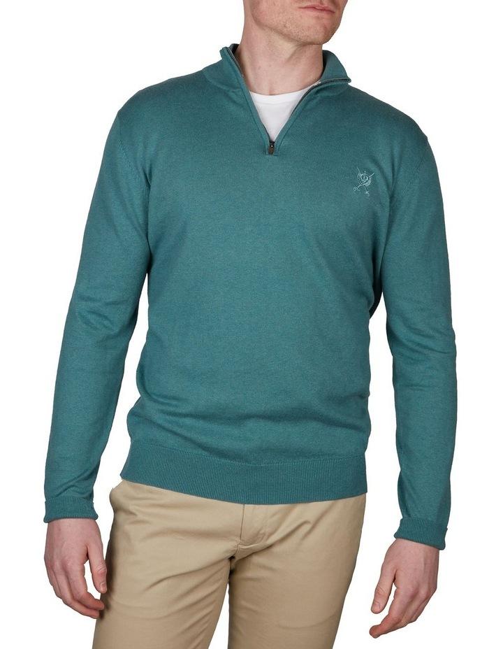 Cotton Cashmere 1/4 Zip Knit image 1