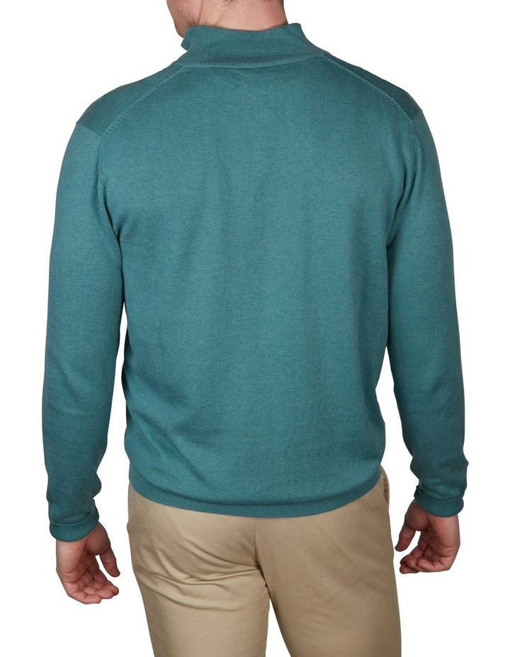 Cotton Cashmere 1/4 Zip Knit image 2