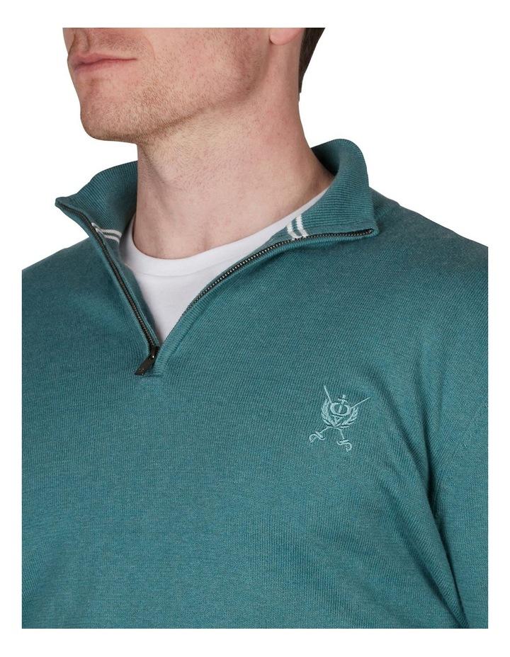 Cotton Cashmere 1/4 Zip Knit image 3