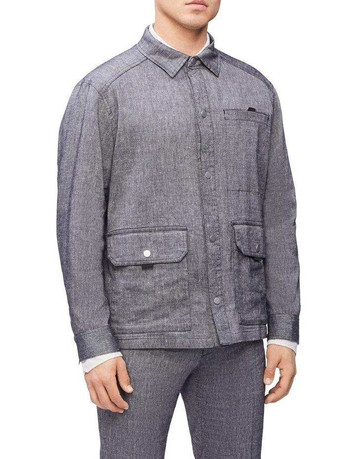 Linen Stretch Shirt Jacket image 1