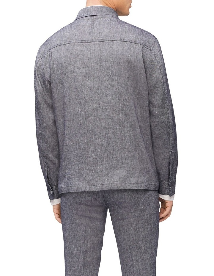 Linen Stretch Shirt Jacket image 3