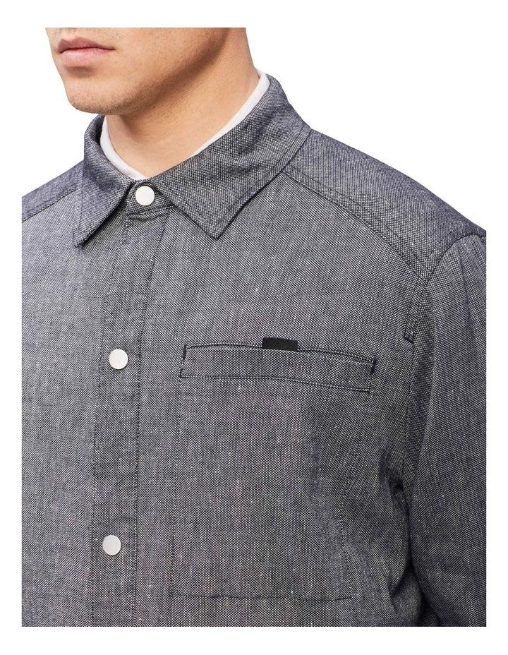 Linen Stretch Shirt Jacket image 4