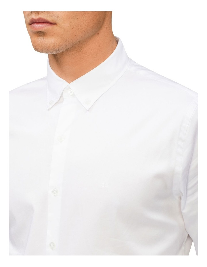 Casual Long Sleeve Sateen Shirt White image 2