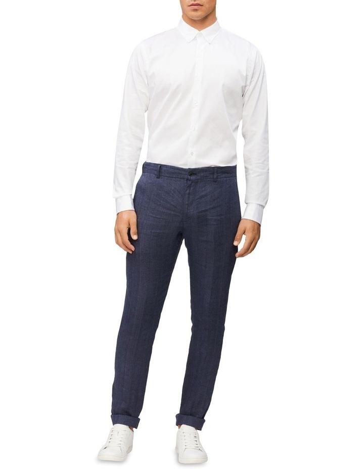 Casual Long Sleeve Sateen Shirt White image 3