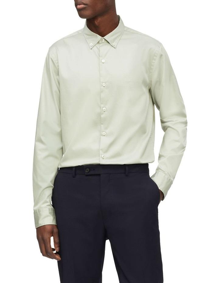 Casual Long Sleeve Sateen Shirt image 1