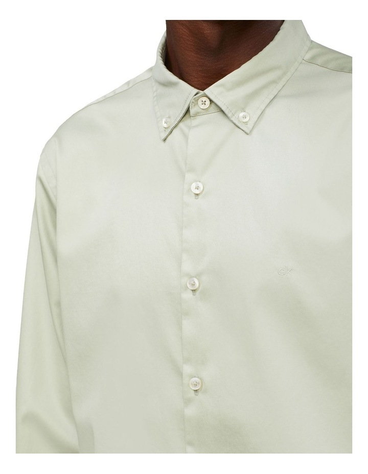 Casual Long Sleeve Sateen Shirt image 2