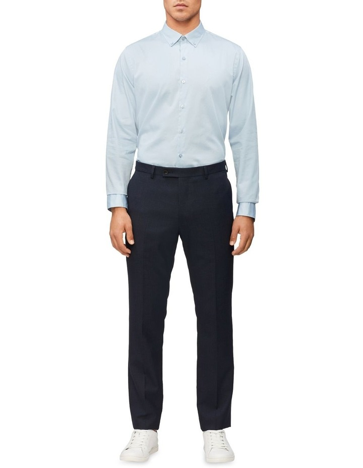 Casual Long Sleeve Sateen Shirt Blue Grey image 3