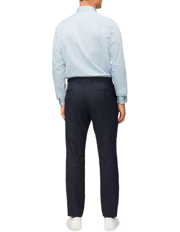 Casual Long Sleeve Sateen Shirt Blue Grey image 4
