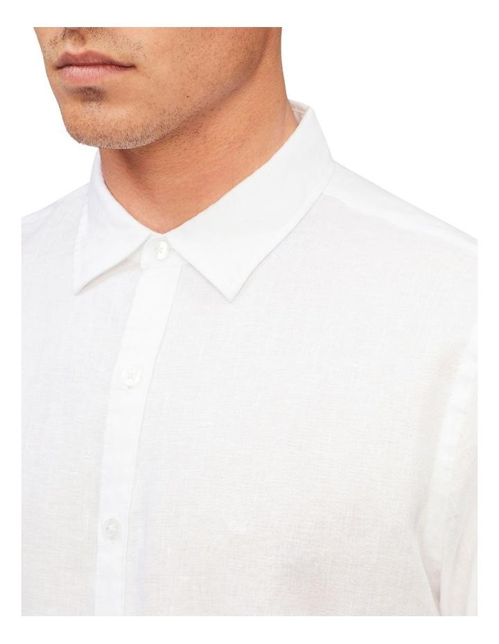 Casual Long Sleeve Linen Shirt White image 4