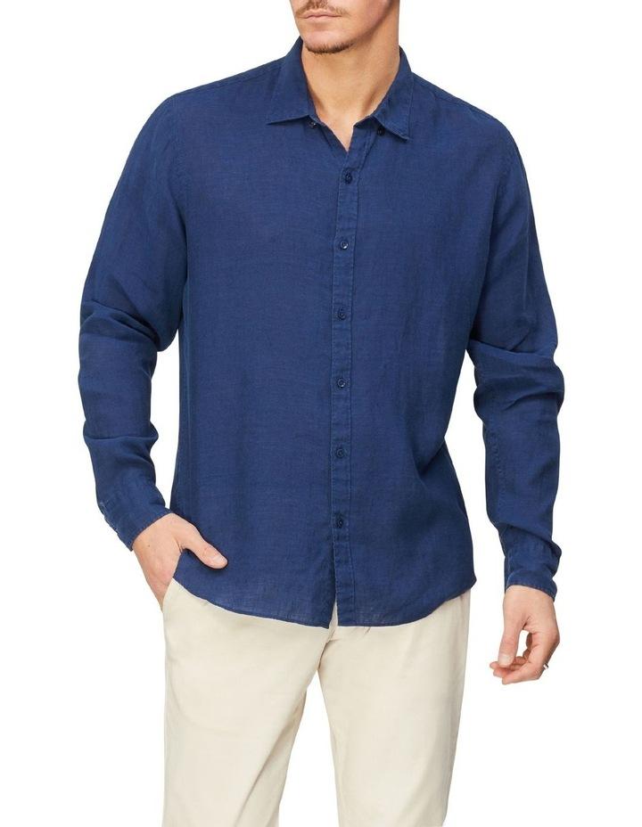 Textured Linen Blend Shirt image 1