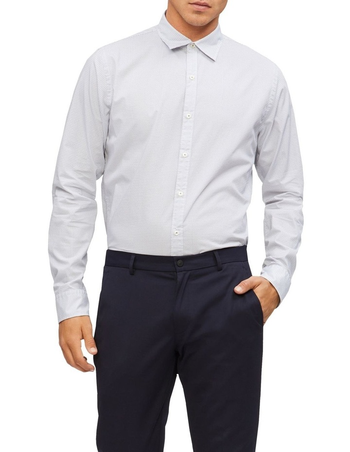 Diamond Print Slim Fit Business Shirt image 1