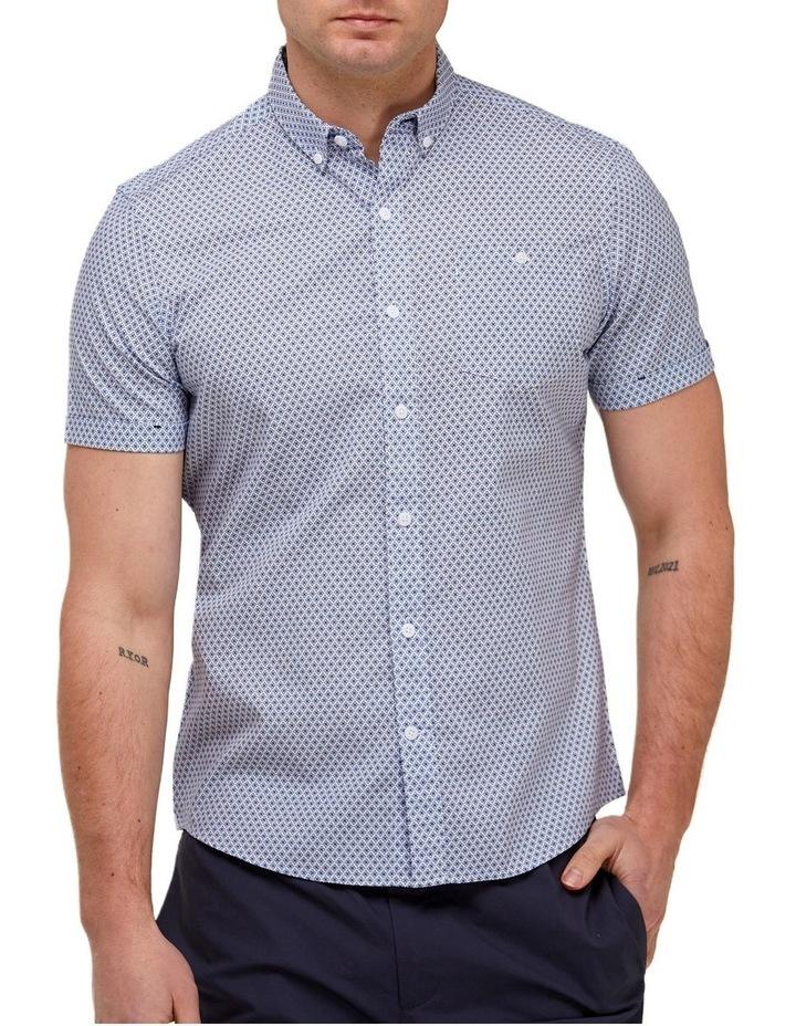 Geo Print Casual Shirt Blue/White image 1