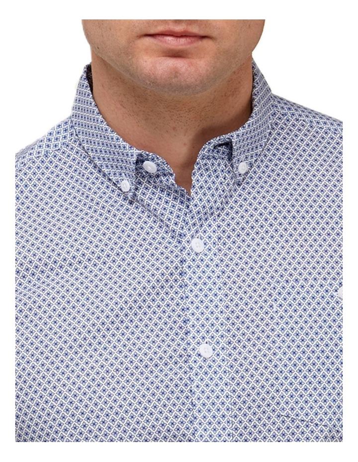 Geo Print Casual Shirt Blue/White image 2