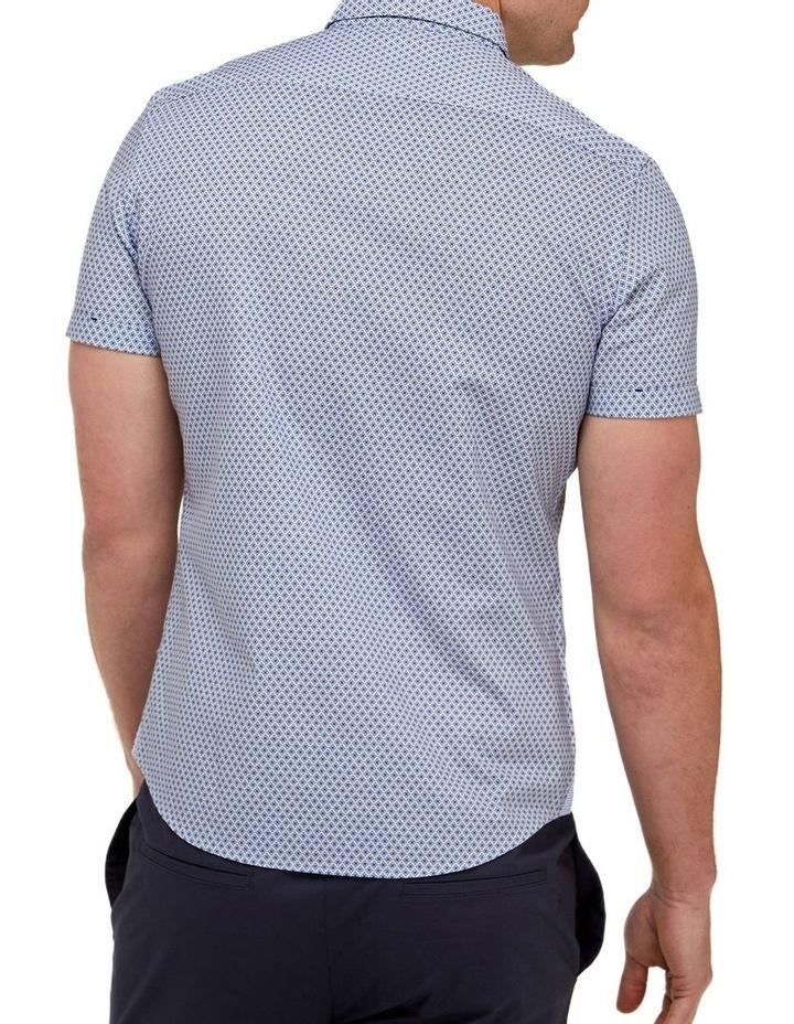 Geo Print Casual Shirt Blue/White image 3
