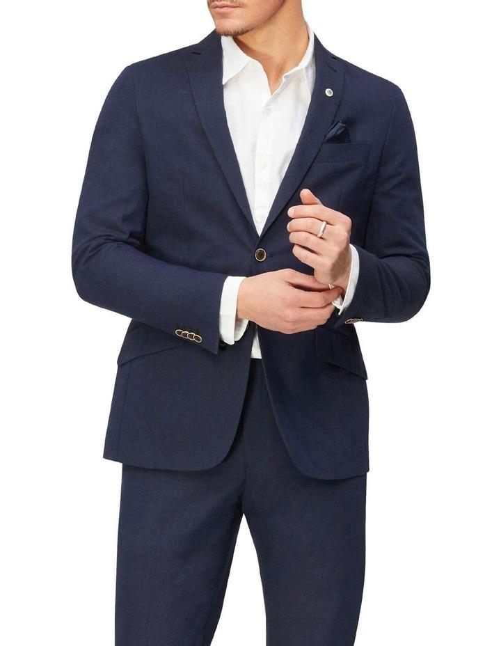Linen Blend Suit Jacket image 1
