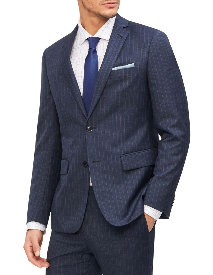 Slim Pinstripe Suit Jacket image 1