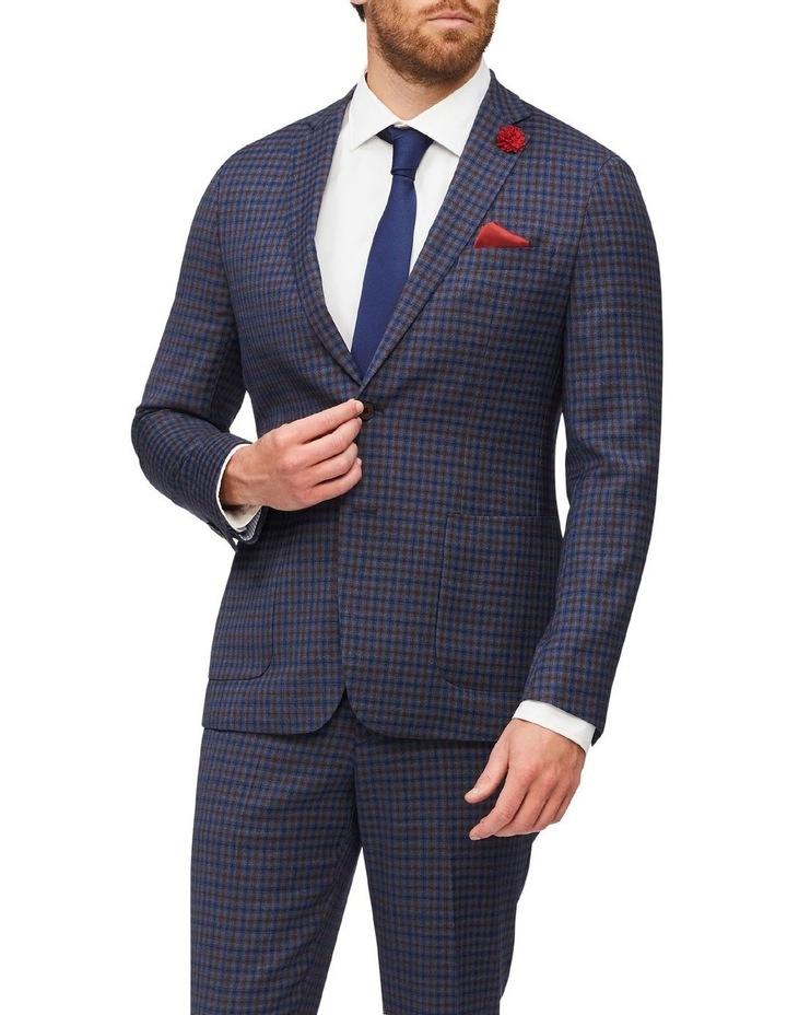 Gingham Check Slim Suit Jacket image 1