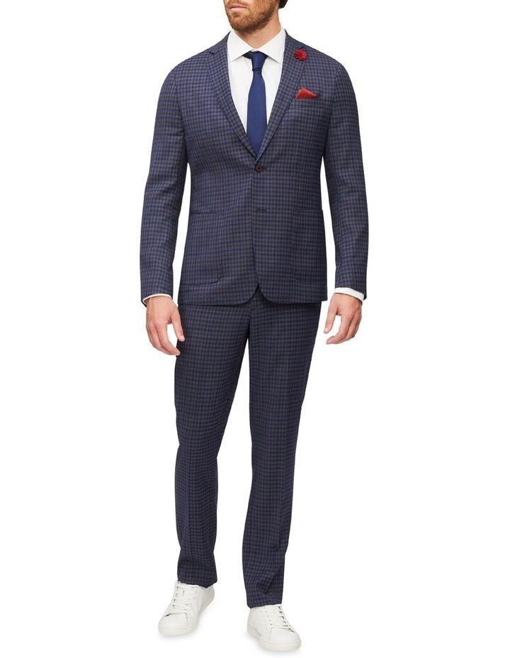 Gingham Check Slim Suit Jacket image 4