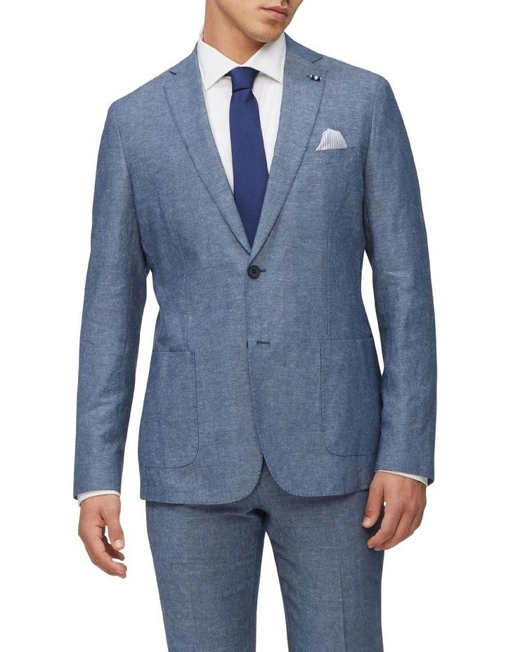 Linen Blend Slim Jacket image 1
