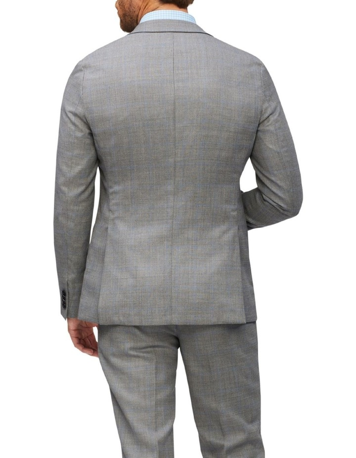 Tailored Wool Window Pane Suit Jacket Light Grey image 3