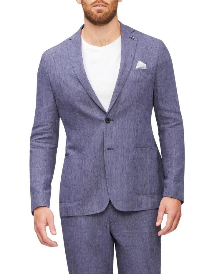 Tailored Fine Stripe Linen Suit Jacket image 1