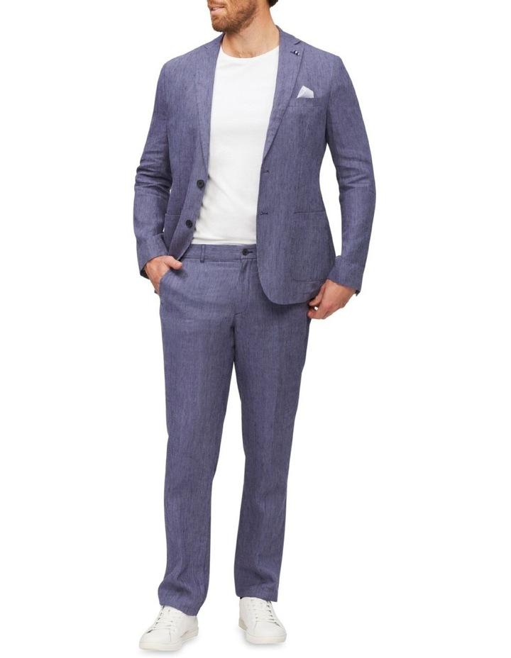 Tailored Fine Stripe Linen Suit Jacket image 3