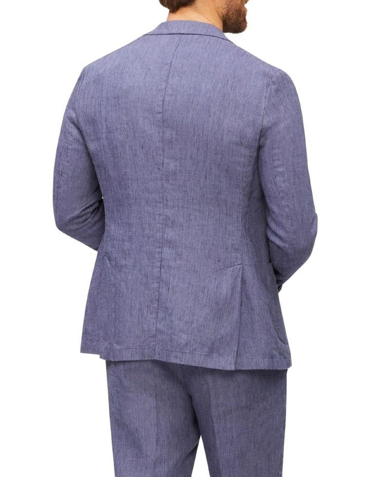 Tailored Fine Stripe Linen Suit Jacket image 4