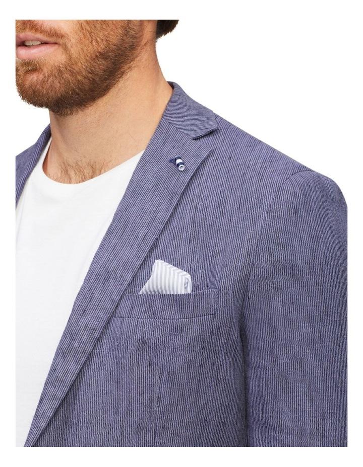 Tailored Fine Stripe Linen Suit Jacket image 5