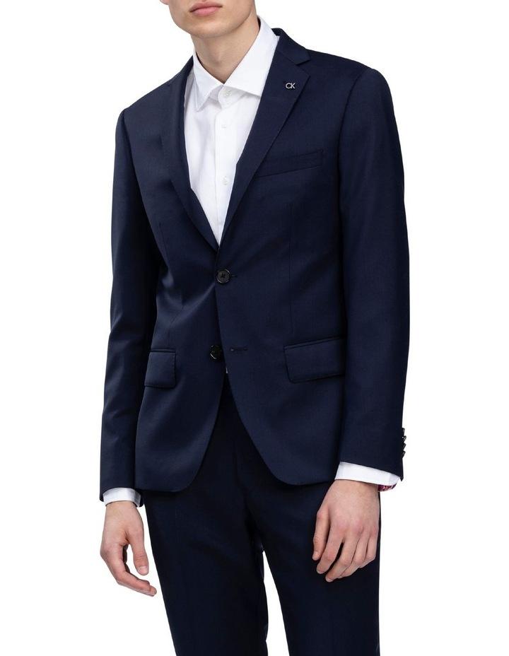 X-Slim Plain Twill Wool Suit Jacket Navy image 1