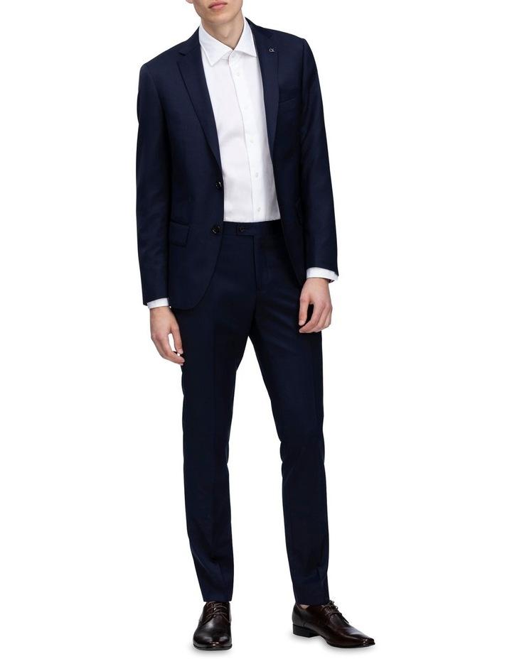 X-Slim Plain Twill Wool Suit Jacket Navy image 2