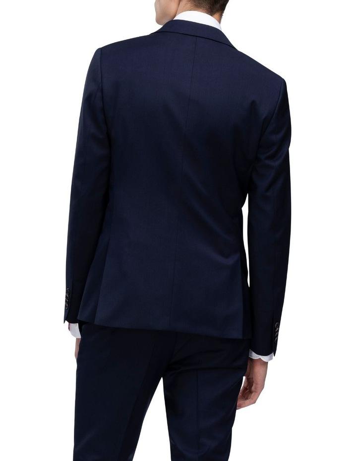 X-Slim Plain Twill Wool Suit Jacket Navy image 3