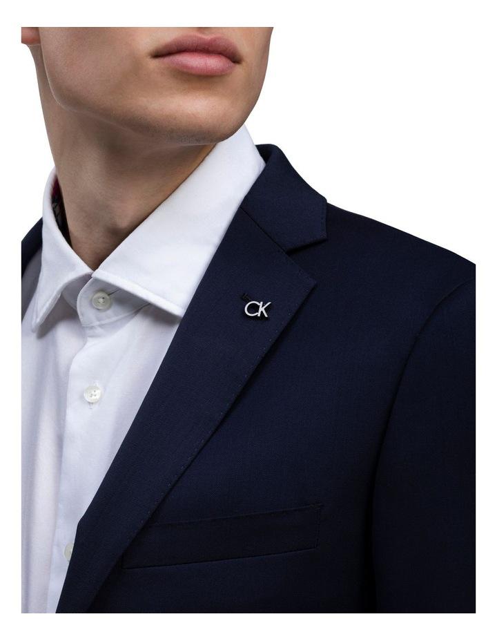 X-Slim Plain Twill Wool Suit Jacket Navy image 4
