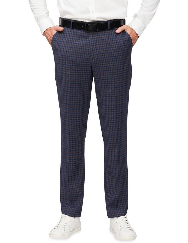 Gingham Check Slim Suit Pant image 1