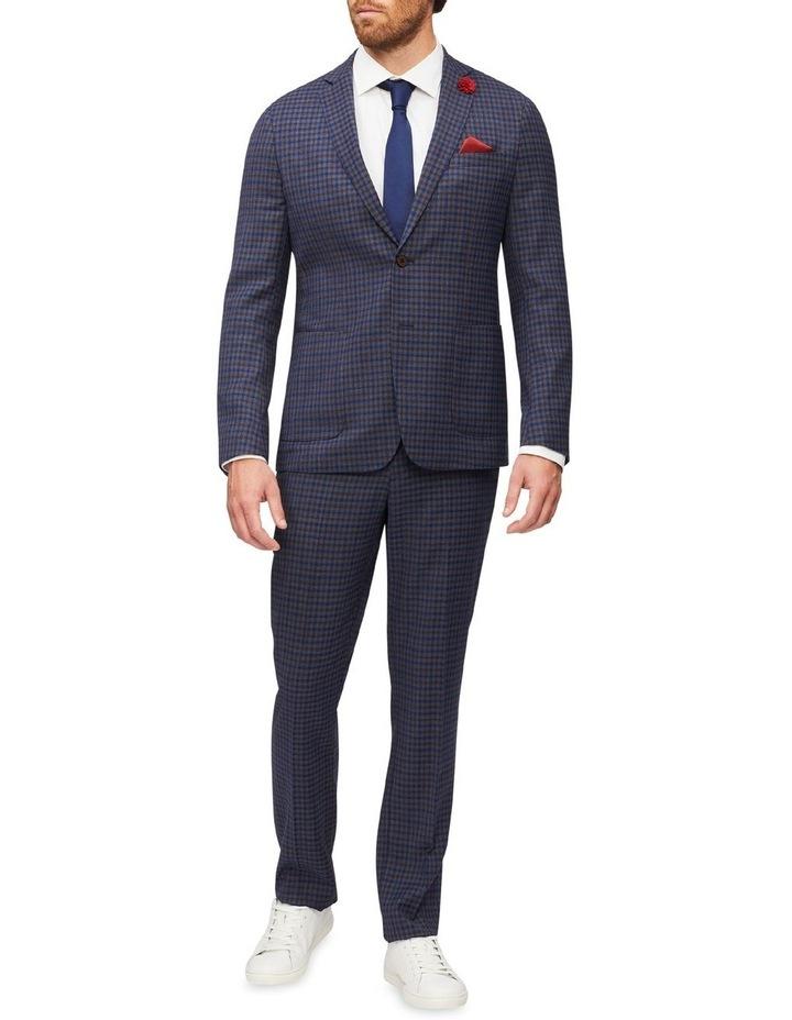 Gingham Check Slim Suit Pant image 4