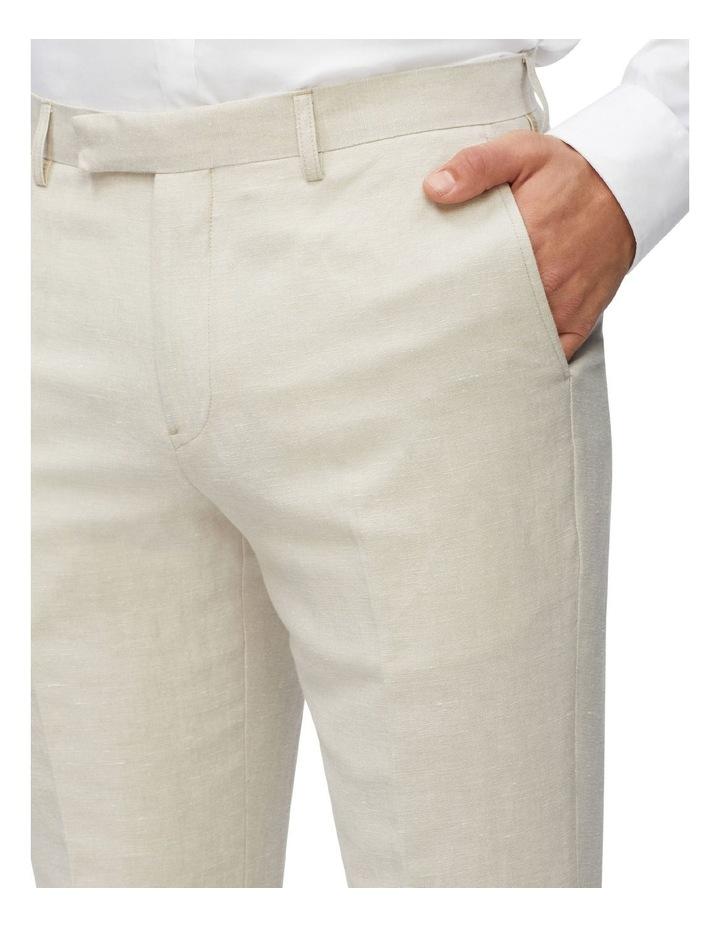 Linen Blend Slim Pant image 4