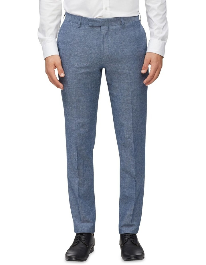 Linen Blend Slim Pant image 1