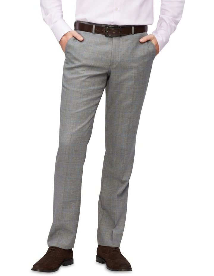 Tailored Wool Textured Window Pant Suit Pant Light Grey image 1