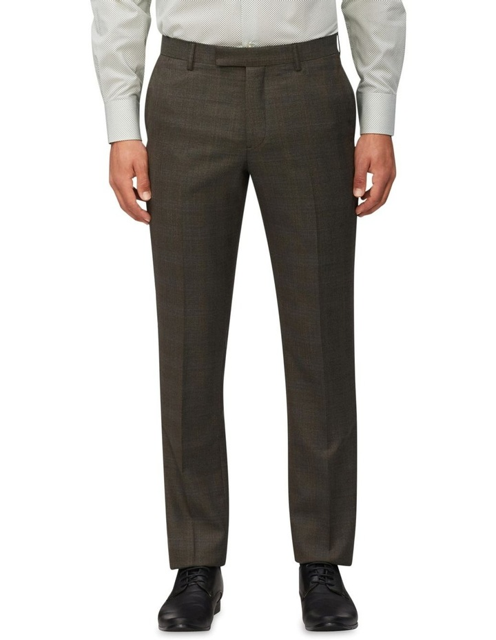 Wool Check Suit Pant Light Green image 1