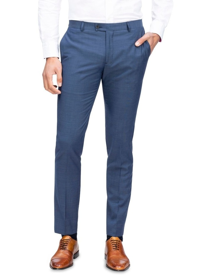 X-Slim Sharkskin Wool Suit Trouser Navy image 1