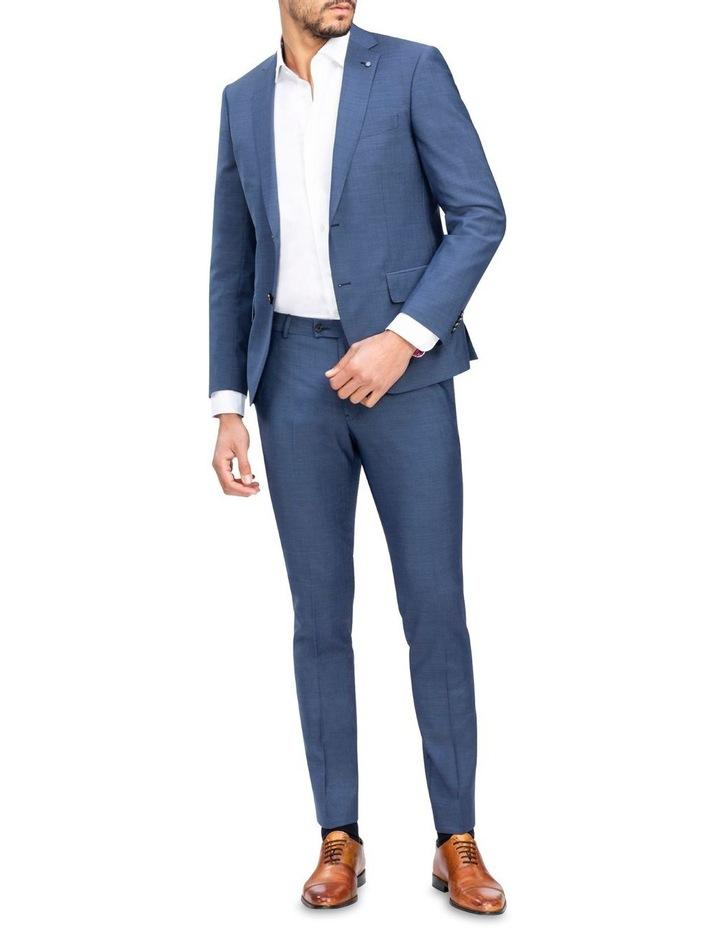 X-Slim Sharkskin Wool Suit Trouser Navy image 2