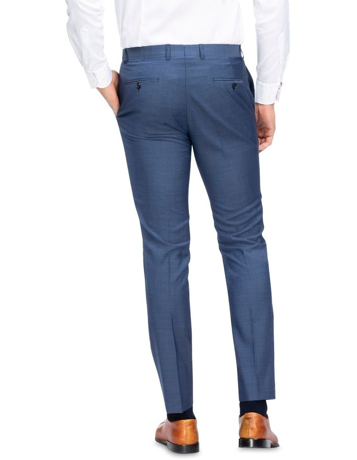 X-Slim Sharkskin Wool Suit Trouser Navy image 3