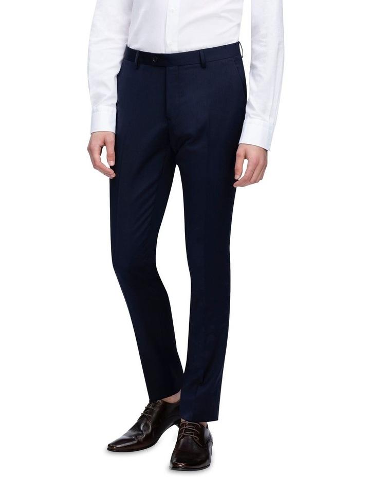 X-Slim Plain Twill Wool Suit Trouser Navy image 1