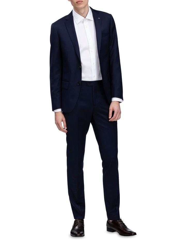 X-Slim Plain Twill Wool Suit Trouser Navy image 2