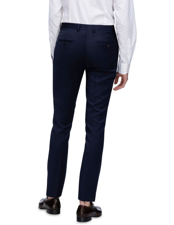 X-Slim Plain Twill Wool Suit Trouser Navy image 3